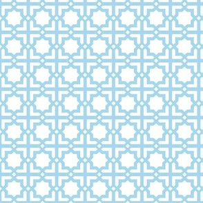 Casablanca white-turquoise-small hand-painted and unprocessed