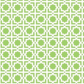 Casablanca green-white-small hand-painted and unprocessed