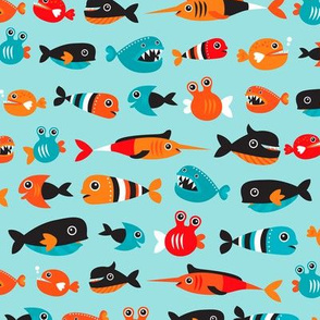 Little fish big wish swimming in the water