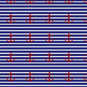 Large Anchors on Horizontal Stripes