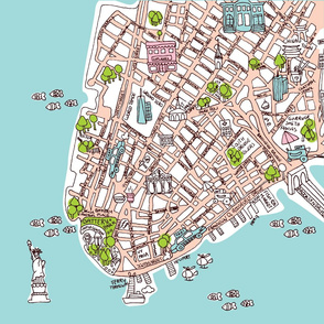 New York City manhattan map