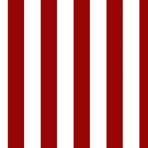 Large Vertical Stripes in Nautical Red and White