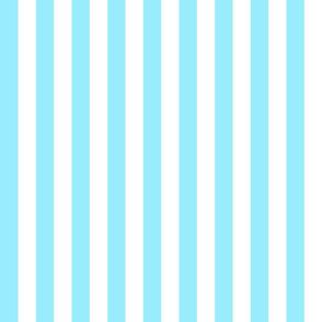 nautical stripes in tropical blue