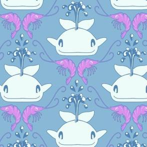 Whale & Shrimp Blue/Purple
