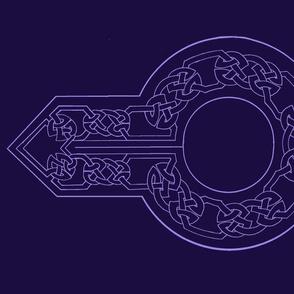 open border 2 collar violet