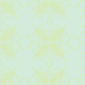 Baby Blue Damask w/yellow