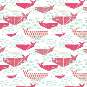 Origami Whales
