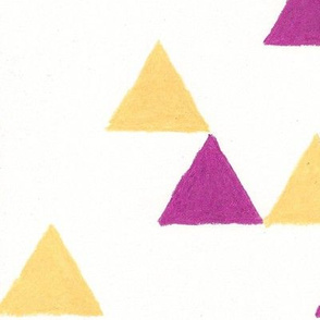 Hand colored Triangles