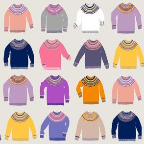 Woolly Jumpers (warm palette)