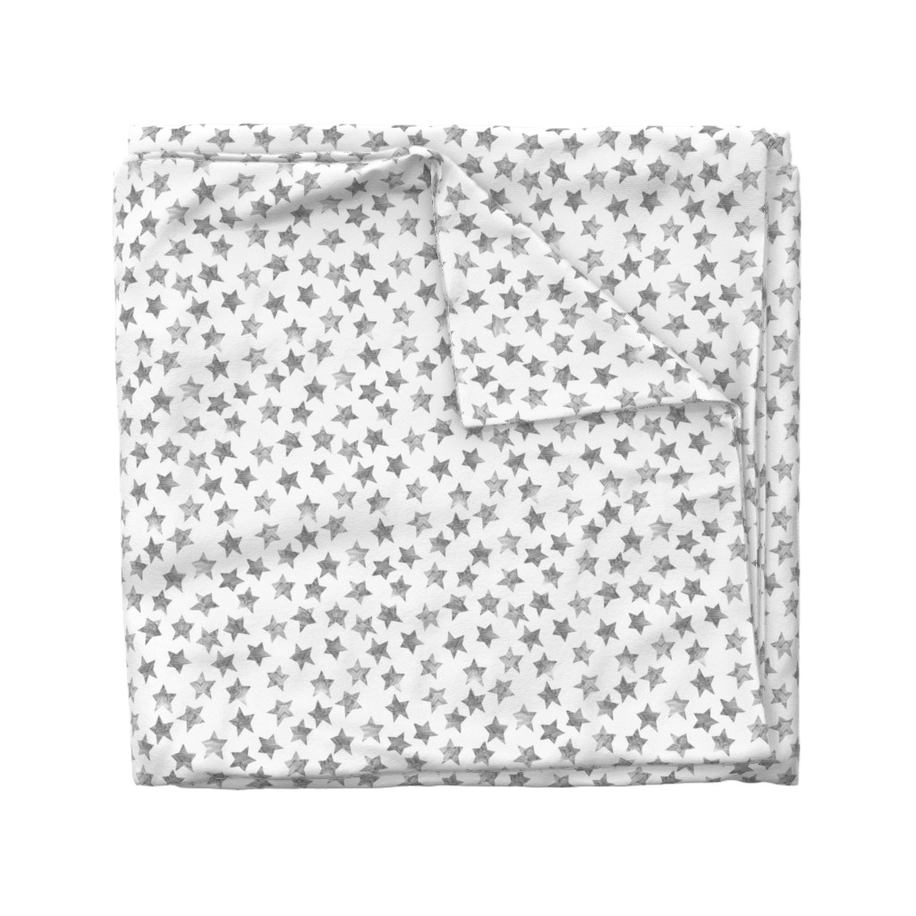 Wyandotte Duvet Cover featuring Starry Watercolor Dreams in Grey by emilysanford
