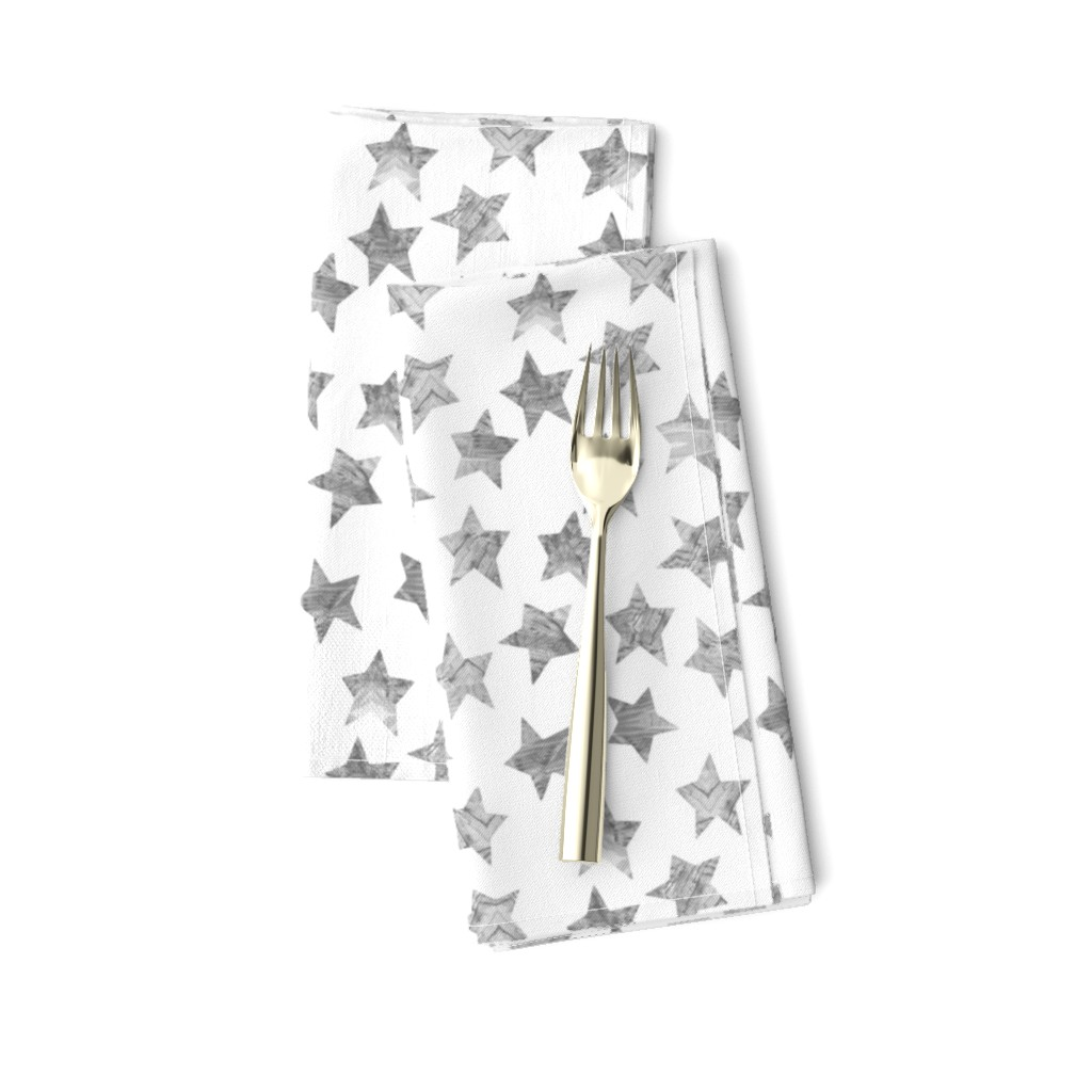 Amarela Dinner Napkins featuring Starry Watercolor Dreams in Grey by emilysanford