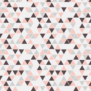 triangles, pale pink and grays