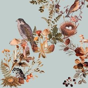 Birds in the Woods, Grey Green // standard