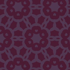 Hearts Design Violet