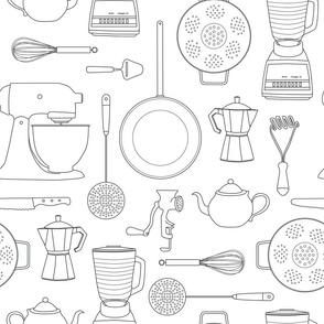 Kitchen Tools (white)