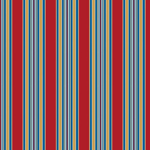 Americana2 Stripes on Red