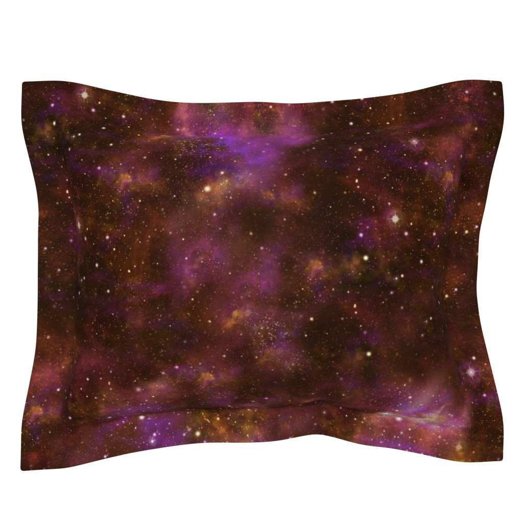 Sebright Pillow Sham featuring Celestial Nebula by cellesria