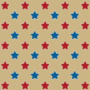Americana2 Stars on Khaki