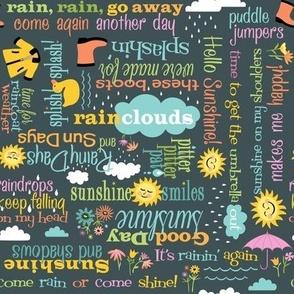 Rainy Days Sayings: Gray