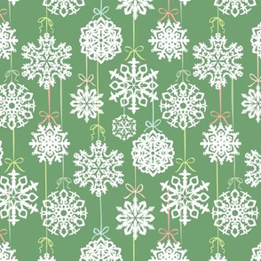 12 Joys of Christmas Snowflakes: Green