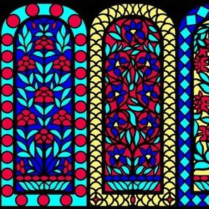 India Floral Stained Glass Windows