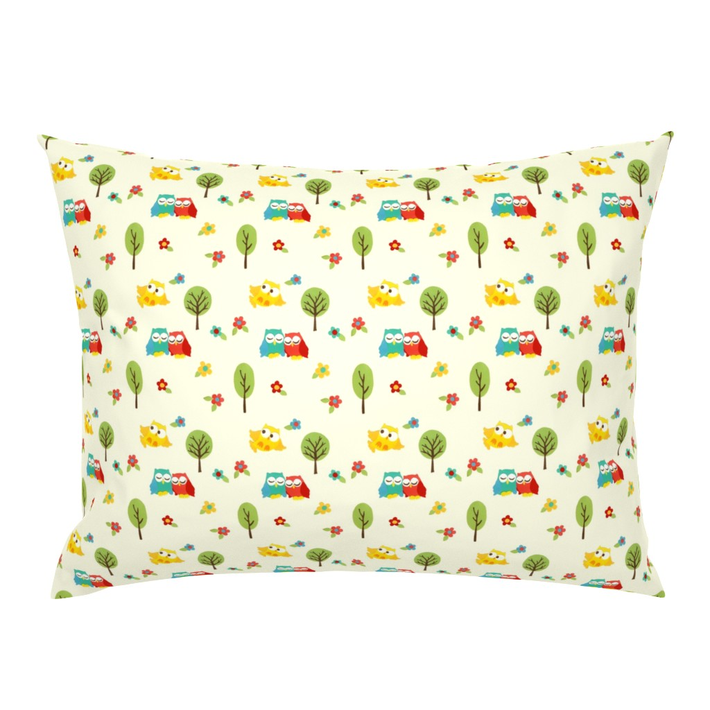 Campine Pillow Sham featuring paper_owls by mytinystar