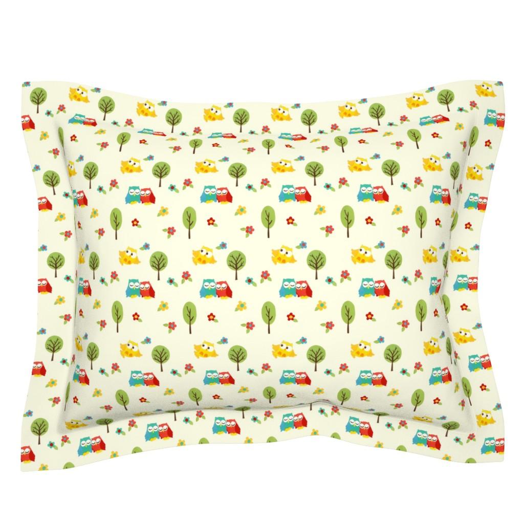 Sebright Pillow Sham featuring paper_owls by mytinystar
