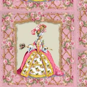 Marie Antoinette Lattice and Roses