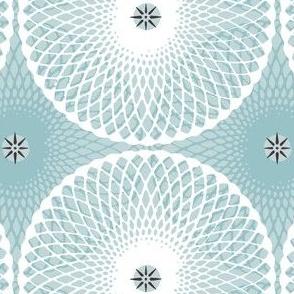 Sea Rosette Pale Dusty Blue