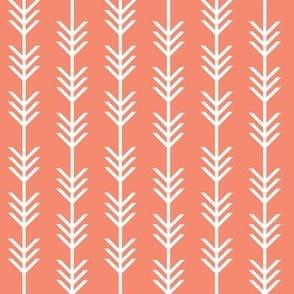 coral arrow stripes