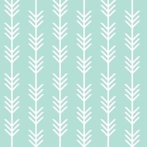 aqua arrow stripes