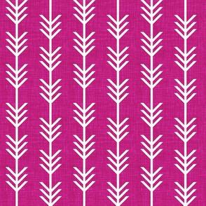 berry linen arrow stripes