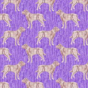 Standing Chessie watercolor - purple