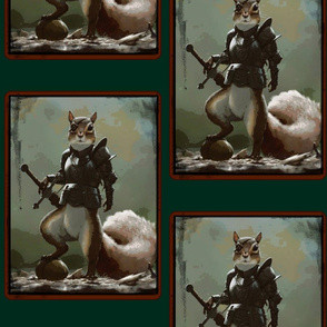 Sir Nuts; Squirrel of Chivalry.