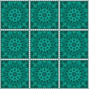 Teal Burst in Lace