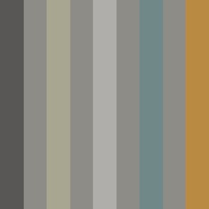 stripe orange wide