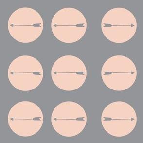 arrow in circle gray