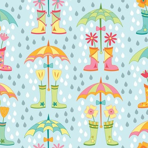 Raindrops and Rain Boots (April)