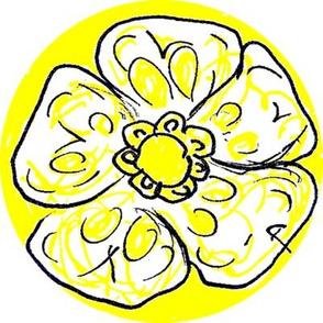 yellow_black_single_flower
