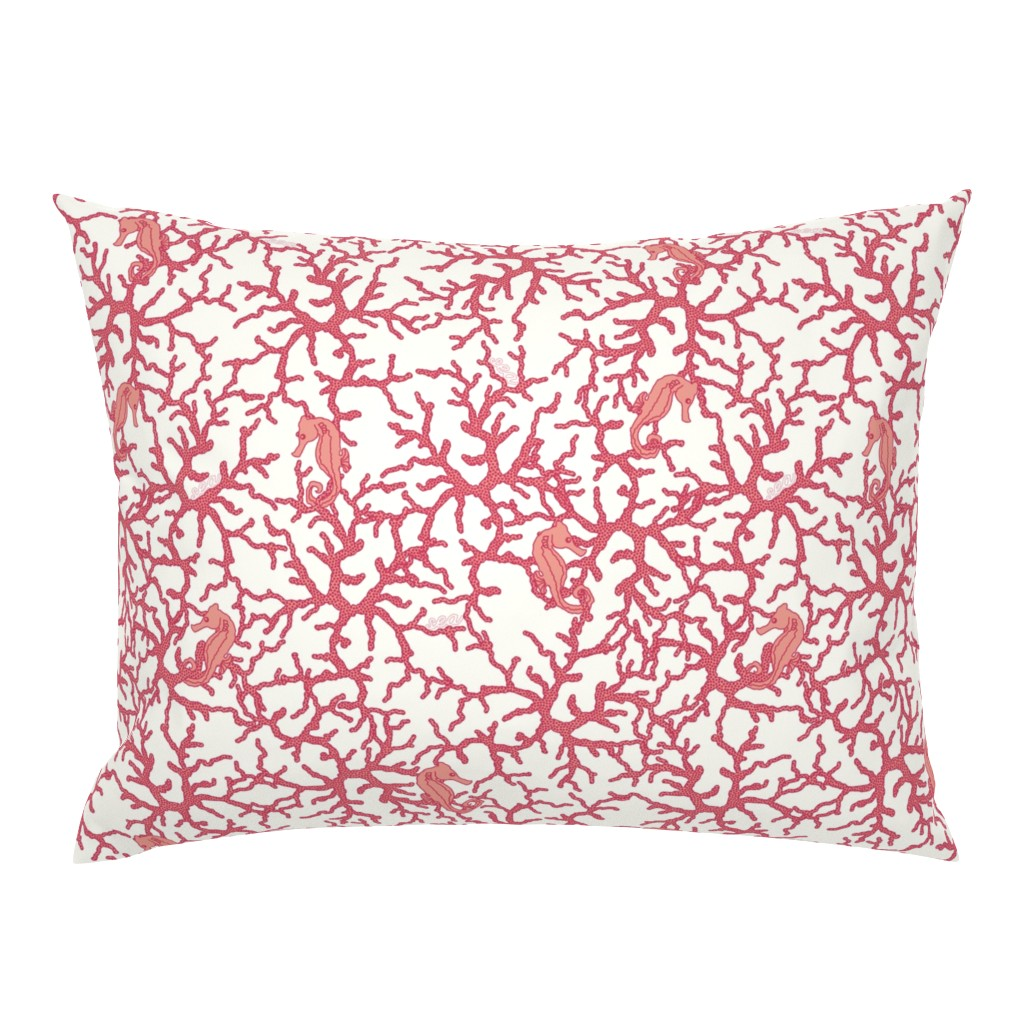 Campine Pillow Sham featuring Camo_Coral by suzy_albert_design