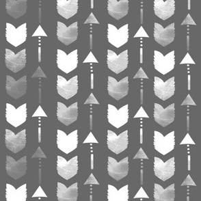 Charcoal Grey Tribal Arrow Pattern