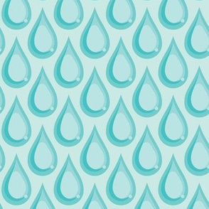 Raindrops - Turquoise