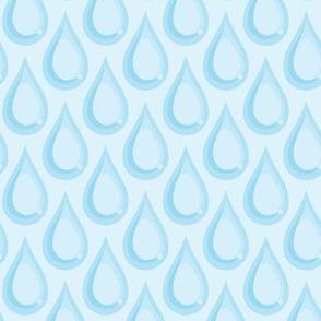 Raindrops - Sky Blue