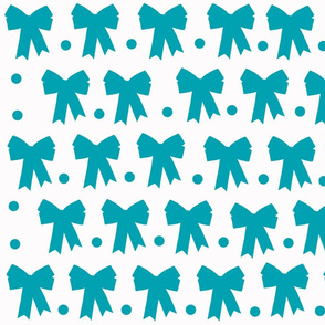 Bows and Dots-Blue