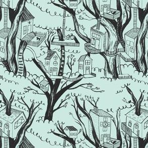 treehouses - mint