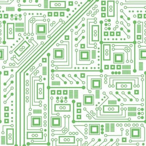 Robot Circuit Board (White and Green)