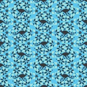 Flowers & Roos (Blue)