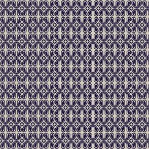 Paisley floral - cobalt