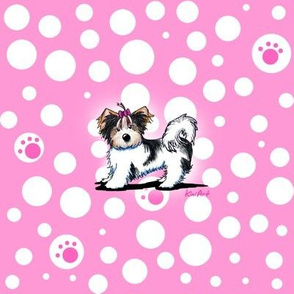 LG Biewer Yorkie Girl On Pink