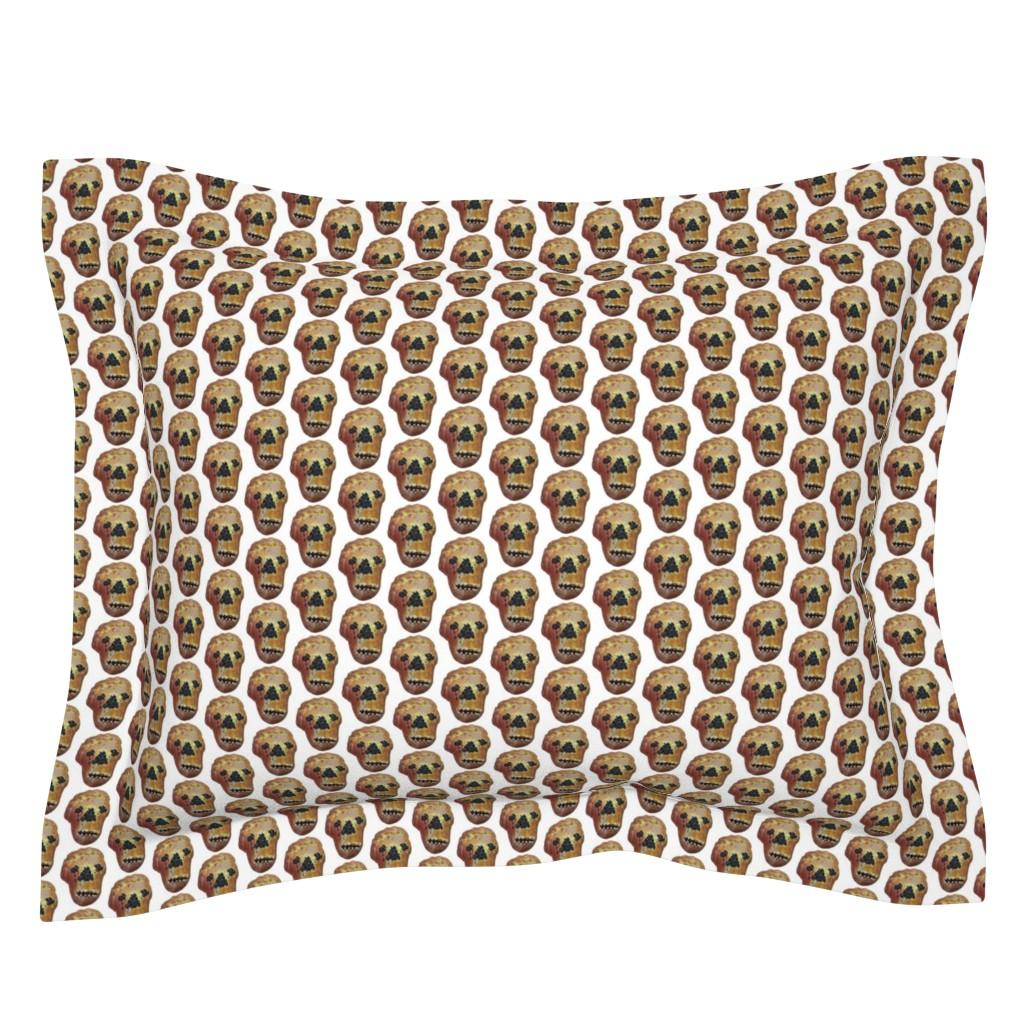 Sebright Pillow Sham featuring Pan_de_Muerto_no_rack by susanprice